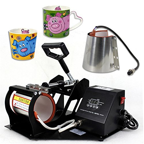F2C Digital Transfer Sublimation 2 in 1 Mug Cup Heat Press Machine for Mugs Cup W/Attachments 11OZ 12OZ Suitable for F2C Pro Transfer Heat Press Machine 5 in 1/6 in 1 (2 in 1 Mug Press)