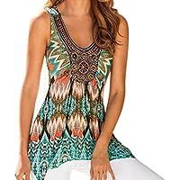 OVERMAL Loose Tunic Tank Tops 2018 Women Summer Printing Vest Top Sleeveless Shirt Blouse Casual Tank Tops T-Shirt