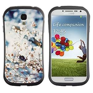 "Hypernova Slim Fit Dual Barniz Protector Caso Case Funda Para SAMSUNG Galaxy S4 IV / i9500 / i9515 / i9505G / SGH-i337 [Primavera de nieve Flores Blooming Naturaleza""]"