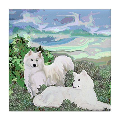 (CafePress - Samoyed Blanket - Tile Coaster, Drink Coaster, Small Trivet)