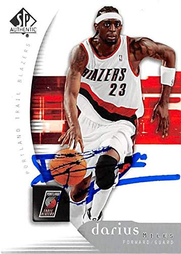640426df718 Amazon.com  Darius Miles autographed Basketball Card (Portland Trail  Blazers) 2005 Upper Deck SP  71 - Unsigned Basketball Cards  Sports  Collectibles