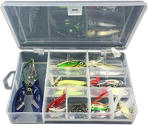42Pcs Señuelo de la Pesca Kit Incluidos Accesorios de Pesca Juego ...