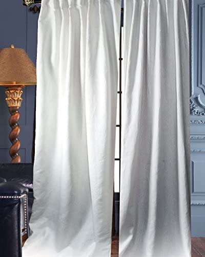 Deveson 100 Linen Panels/Curtains/Drapes White