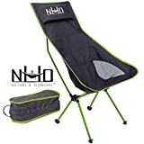 Ultralight Camping Chair - Folding, Compact, Lightweight & Portable. Comfortable Design. Best for RV, Outdoor Hiking, Fishing, Hunting, Kayaking, Backpacking, Festivals, Concerts, and Travel (Green)
