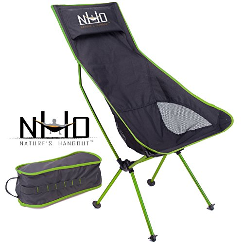 - Ultralight Camping Chair - Folding, Compact, Lightweight & Portable. Comfortable Design. Best For RV, Outdoor Hiking, Fishing, Hunting, Kayaking, Backpacking, Festivals, Concerts, And Travel (Green)