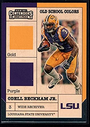 Football NFL 2017 Panini Contenders Draft Picks Old School Colors  9 Odell  Beckham Jr. 7440a5115