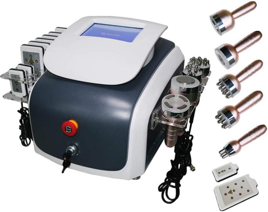 6 en 1 ultrasónico 40 KHz cavitación Vacío RF liposucción lipo láser multipolar RF diodo láser lipolaser anti envejecimiento rejuvenecimiento de la piel de la máquina