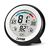 dxrise Digital Hygrometer Humidity Gauge Indoor Temperature and Room Humidity Monitor meter with Accurate Monitor Clear Reading, Min/Max Records, C/F switch