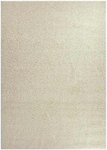 "RugStylesOnline, Shaggy Collection Shag Area Rugs, 6'7""x9'6"" - Ivory (Off White)"