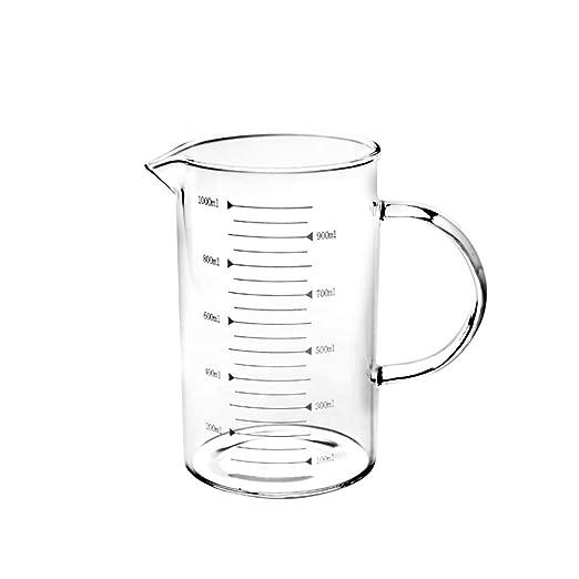 Tea cup Taza medidora con escala Taza de leche vidrio resistente ...