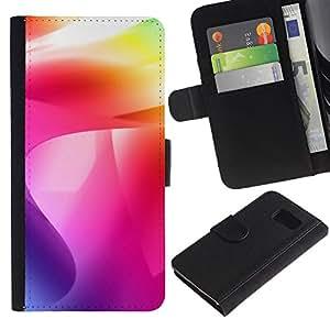 JackGot ( Color de los remolinos ) Samsung Galaxy S6 la tarjeta de Crédito Slots PU Funda de cuero Monedero caso cubierta de piel