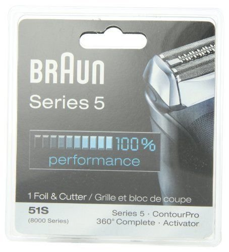 Braun Series 5 Combi Foil & Cutter Replacement Pack 8000 360 Complete Activator