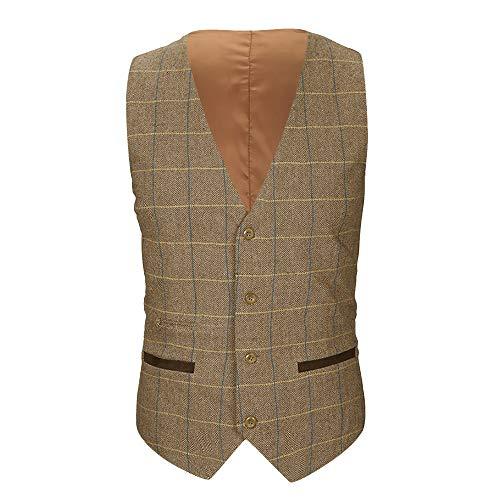 POHOK Clearance Sale Mens Jacket Beston Droit Waistcoat Pocket Vest Top Coat
