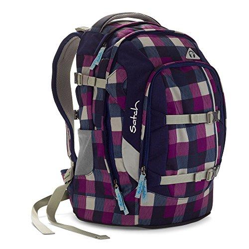 Satch Schulrucksack Pack Berry Carry 966 karo lila-blau