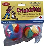 Cancor Innovations Mini Crinkle Ball Cat Toy (2 Pack)