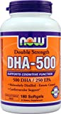 NOW Foods DHA-500 -- 180 Softgels - 2PC