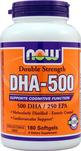 NOW Foods DHA-500 -- 180 Softgels - 2PC by NOW Foods