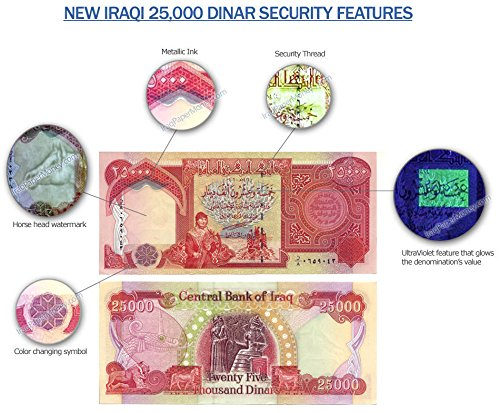 1 x 25,000 IRAQI DINAR NOTE UNCIRCULATED!! AUTHENTIC! IQD! - very rare For (Dinar Note)