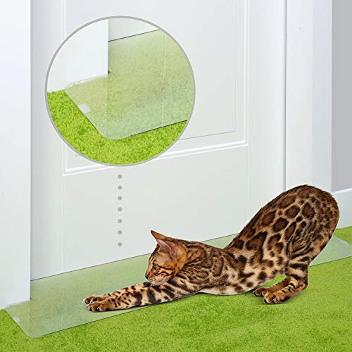 PETFECT Carpet Cat Scratch Protector - 30 Inch Deterrent w/Slip Stopper Doorway Guard Design (Mat Door Cat)