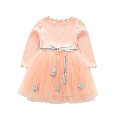 ALLAIBB Niña Niños Cumpleaños Princesa Vestido Suéter Top ...