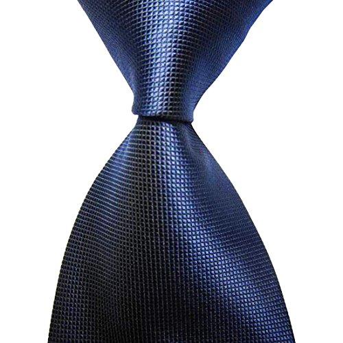 KissTies Mens Navy Blue Solid Tie Pure Color Necktie