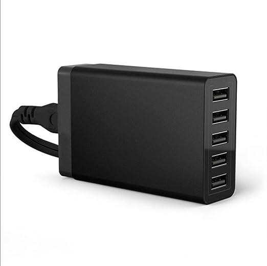 EDW Cargador USB de pared/5 Puertos USB Cargador Portátil/25 ...