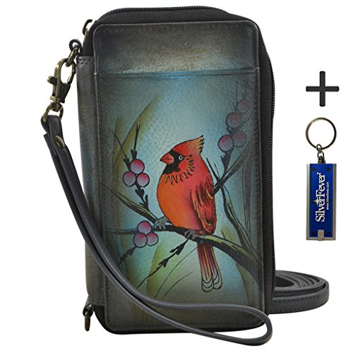 Anna by Anuschka Ladies Wallet & Key Chain (Smart Phone Case RFID Northen Cardinal) by ANUSCHKA