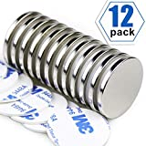 Super Strong Neodymium Disc Magnets, Powerful N52 Rare Earth Magnets - 1.26 inch x 1/8 inch, Pack of 12: more info