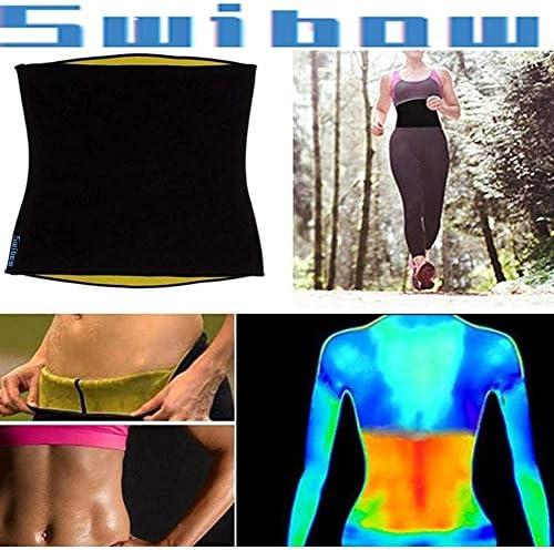 Waist Trainer Trimmer Belt for Weight Loss Neoprene Slimming Belt Sauna Fat Burner Sweat Corset Body Cincher for Women & Men 6
