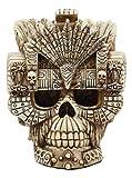 Ebros Aztec Empire Emperor Montezuma Skull Statue