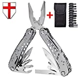 Multitool with Mini Tools, Knife, Pliers - Best Swiss Army Knife and Multi Tools Pliers - 11 Bits - Cool Utility Multi Function Tool - Good Multi-tool Kit for Camping and Backpacking - Grand Way 2238