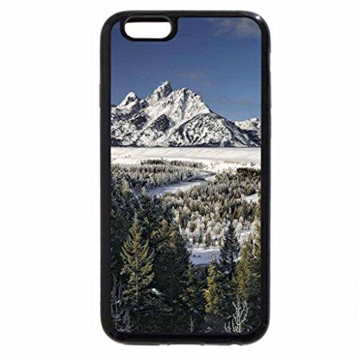 iPhone 6S / iPhone 6 Case (Black) moon over unbelievable winter landscape