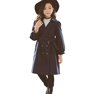 d2238ea2e3fd Amazon.com  LSERVER Kids Boys Trench Coat Toddler Girls Windbreaker ...