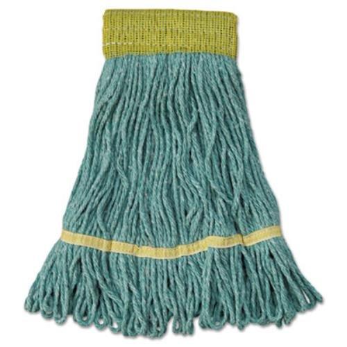 UNISAN Mop Head, Super Loop Head, Cotton/Synthetic Fiber, Small, Green, 12/Carton by Unisan