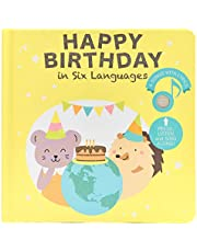 Cali's Books Happy Birthday Musical Book with Songs in six Languages. Interactive Sound Book for Toddlers. Best Educational Toy for Toddler Ages 1-3