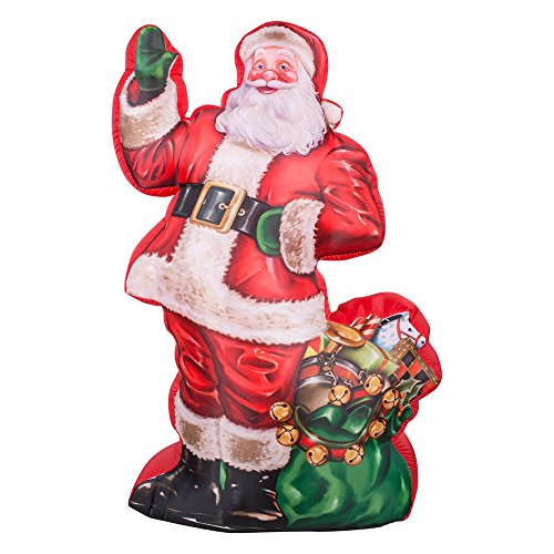 Gemmy Airblown Photorealistic Illustrated Santa with Gift Bag Inflatable - Gemmy Airblown Inflatable