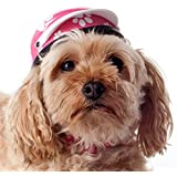 "Helmets for Dogs, Cats, and All Small Pets - Pink Paws for small dogs 5-10 lbs. (9-11"" head circumference)"