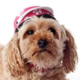 Helmet for Biker Dogs, Cats and Small Pets, Costume, Pet Accessory – Pink Paws