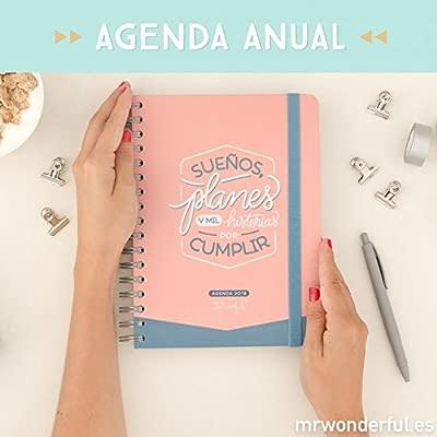 Mr. Wonderful WOA08860ES - Agenda 2018, día por pagina, diseño Sueños, planes y mil historias por cumplir