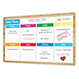 color behavior chart - 2018 Magnetic Weekly Planner, Flexible Dry Erase Board, Track Family Chores, Behaviour Chart, Multiple Kids, Keeps You Organised, Meal Planner, Bright Colors, Bonus Family Organiser Printables