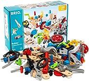 BRIO Builder 34587 - Builder Construction Set - 136-Piece Construction Set STEM Toy with Wood and Plastic Piec