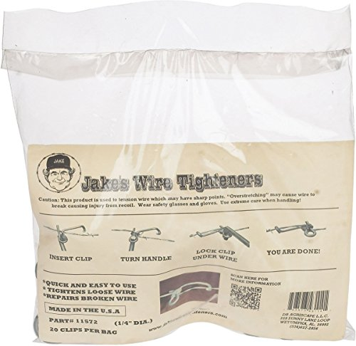 Jake's Wire Tighteners Kit - 1/4' Bag of 20 and Jakes Tighteners Handle.