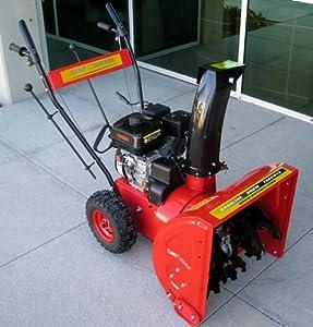 B00DFMLKJU_Gas Powered, 6.5hp 196cc, Snow Blower Thrower Machine with Snow Hog Tires