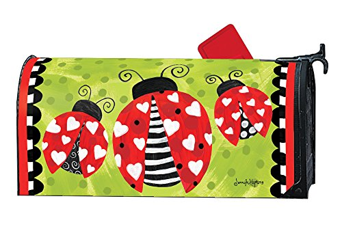Love Bug Valentine MailWraps Magnetic Mailbox Cover #01692