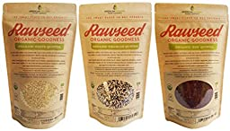 Rawseed Organic White, Red, and Tri-color Quinoa 3 pack 6lbs