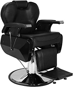 Professional Salon Barber Chair, with Hydraulic Pump and Rotatable Salon Furniture, for Hair Cutting Styling Shampoo Shave Waxing Makeup