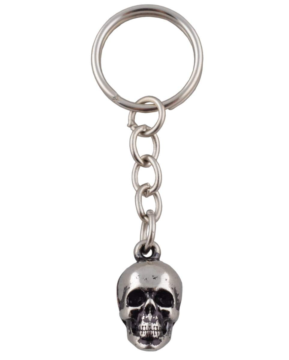 Horror-Shop Schl/üsselanh/änger Skull aus Metall als Kost/ümzubeh/ör /& Halloween Deko
