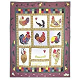 Patch Magic 50-Inch by 60-Inch Rooster Throw
