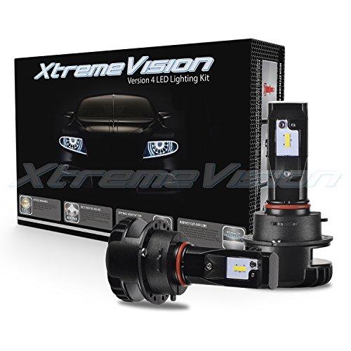 XtremeVision V4 32W 4,800LM - 9012 LED Headlight Conversion Kit - 6500K Korea CSP LED - Fanless Design - 2018 (Jaguar Conversion Kit)