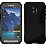 Silicone Case for Samsung Galaxy S5 Active - S-Style black - Cover PhoneNatic + protective foils